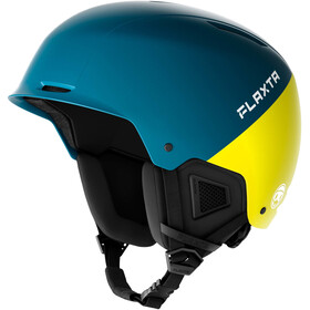 Flaxta Noble Helm Jugend petrol/bright yellow
